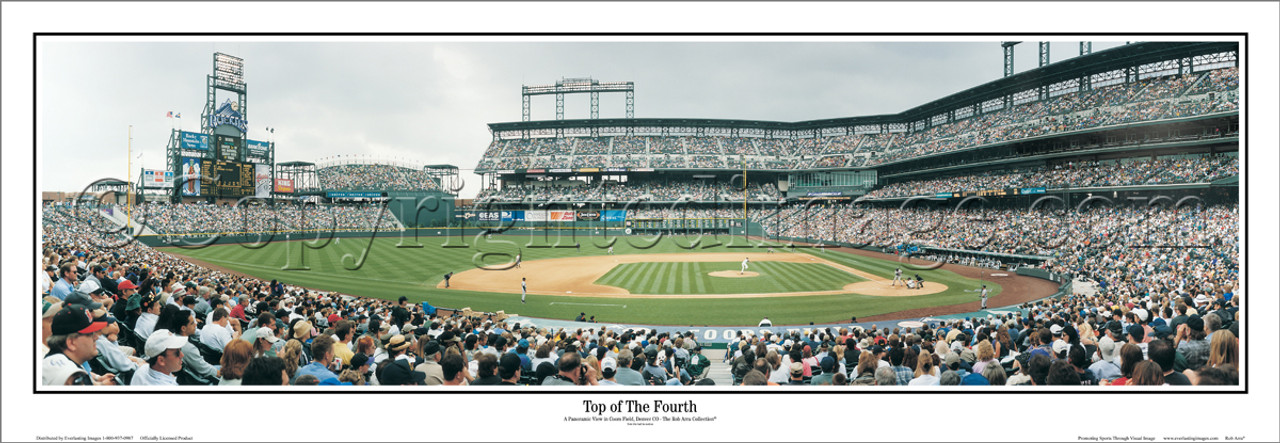 """""""Top of the Fourth"""" Colorado Rockies Panoramic Framed Poster"""