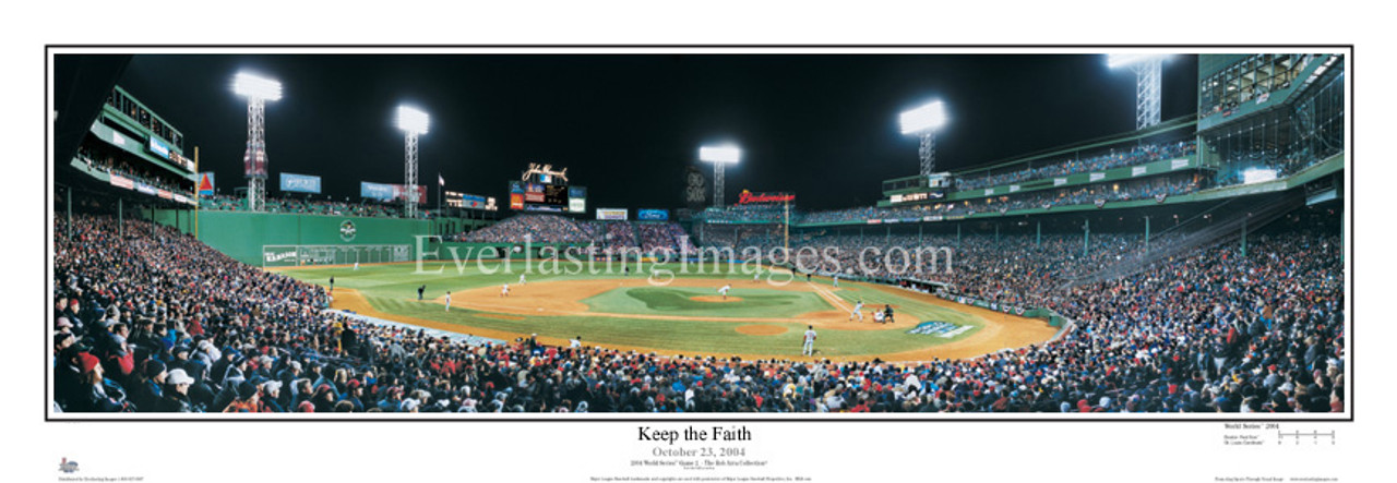 """Keep the Faith"" Boston Red Sox Panoramic Framed Poster"