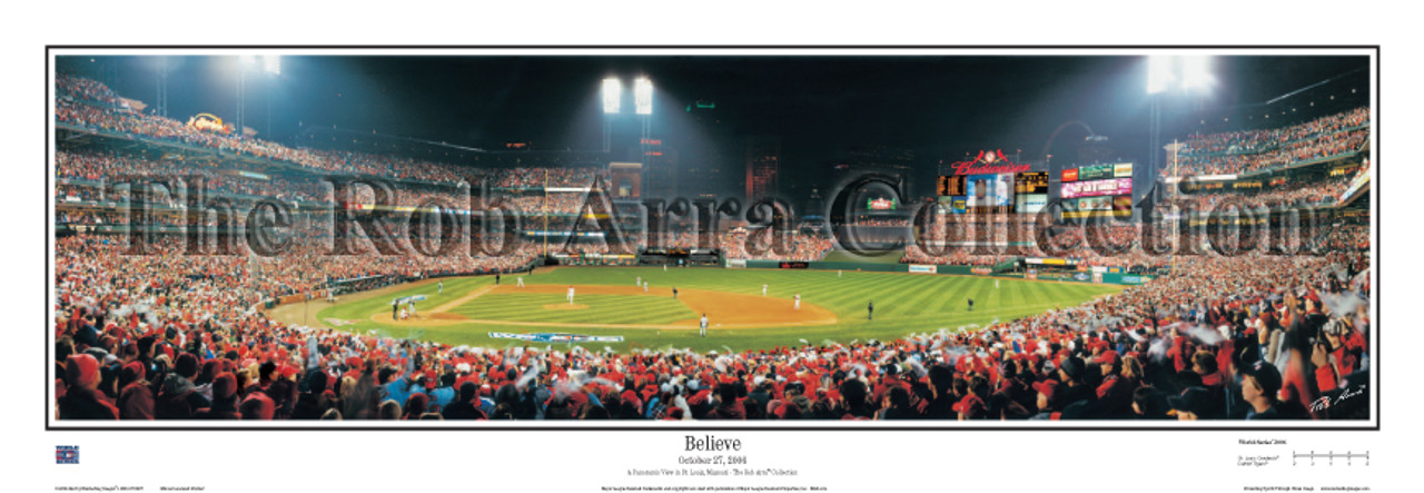"""Believe"" St. Louis Cardinals Panoramic Framed Poster"
