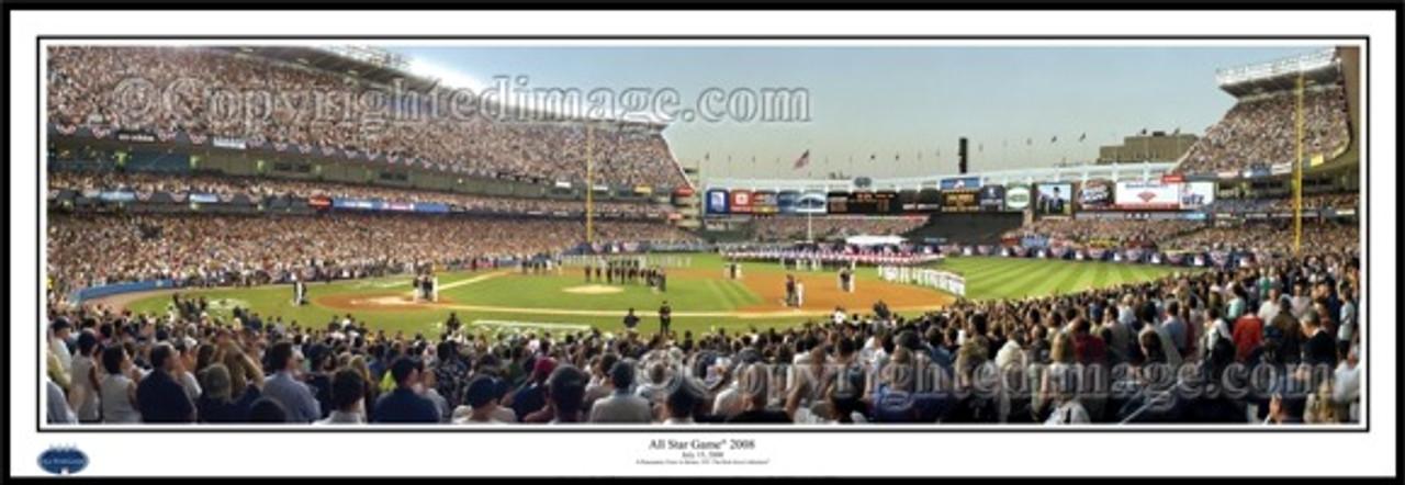 """2008 All-Star Game"" Yankee Stadium Panoramic Framed Poster"