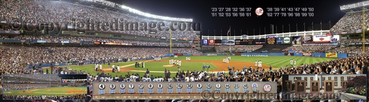 """""""Last Night"""" New York Yankees at Yankee Stadium Panoramic Framed Poster"""