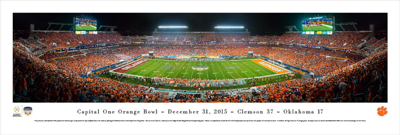 """2015 Orange Bowl"" Sun Life Stadium Panorama Poster"