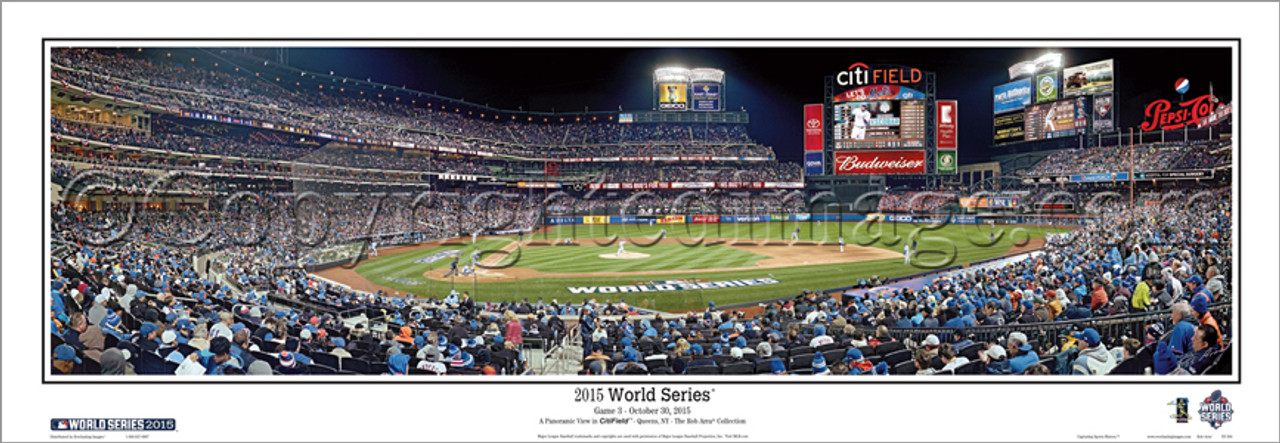 """2015 World Series"" Citi Field Panoramic Framed Poster"