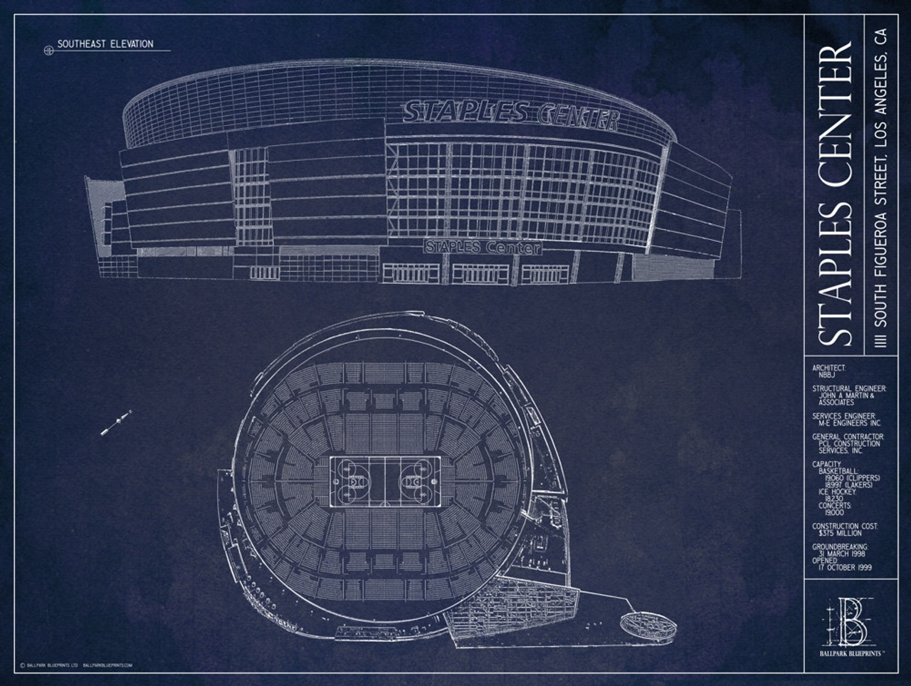 Staples Center Blueprint Poster