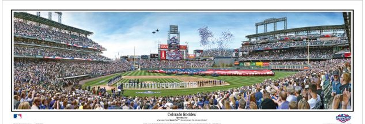 Colorado Rockies at Coors Field Panoramic Framed Poster