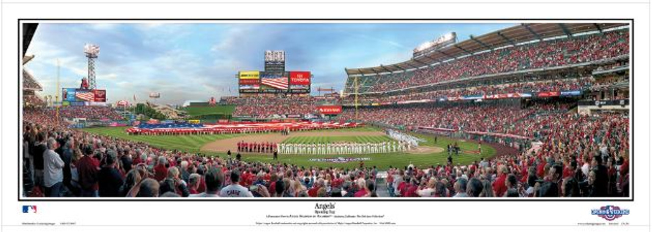 Los Angeles Angels at Angel Stadium Panoramic Framed Poster