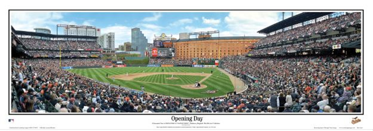 Baltimore Orioles at Camden Yards Panoramic Framed Poster