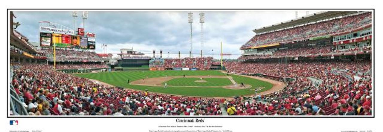 Cincinnati Reds at Great American Ball Park Panoramic Framed Poster