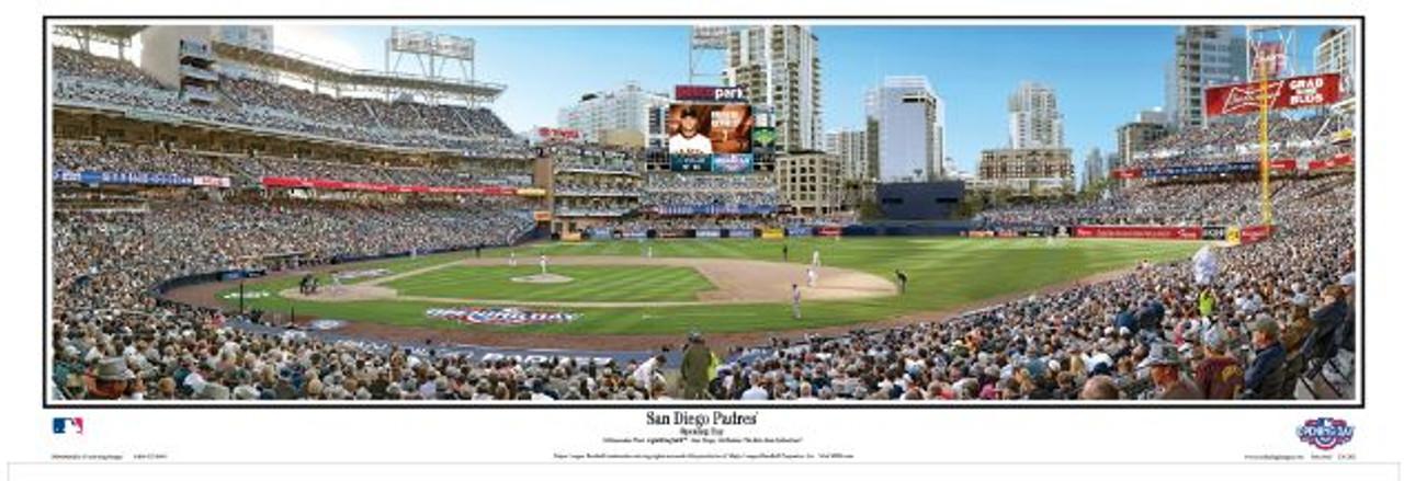 San Diego Padres at Petco Park Panoramic Framed Poster