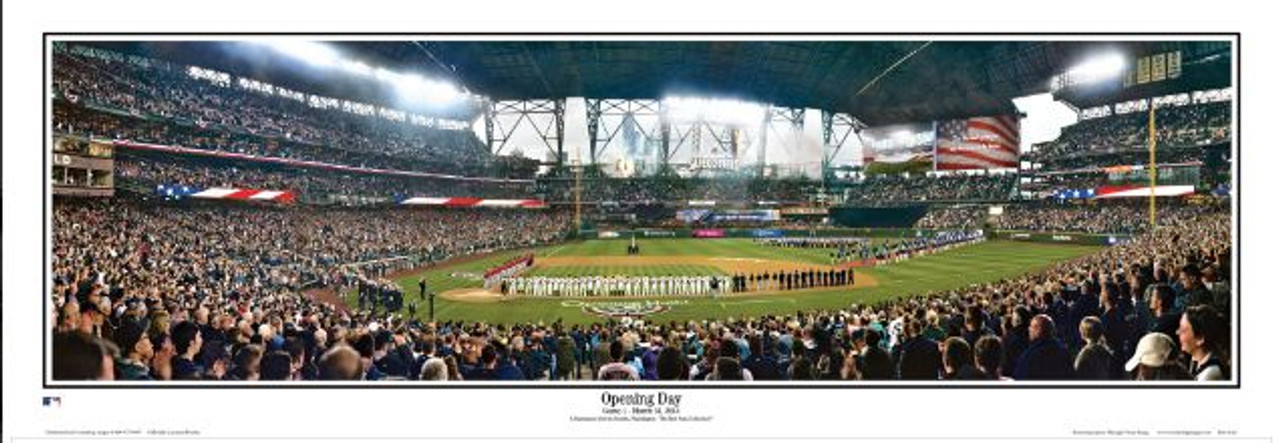Seattle Mariners at Safeco Field Panoramic Poster