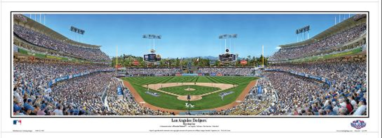 Los Angeles Dodgers at Dodger Stadium Panoramic Framed Poster