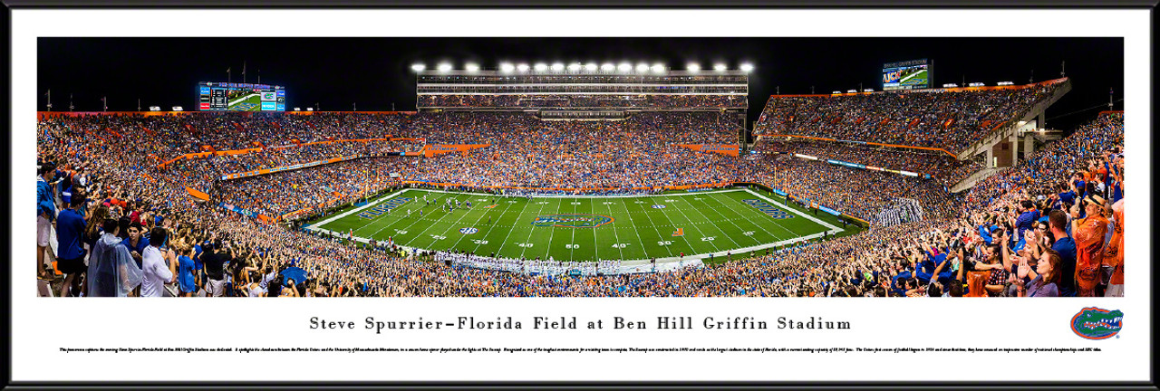 "Florida Gators ""50 Yard Line"" Ben Hill Griffin Stadium Panorama Poster"