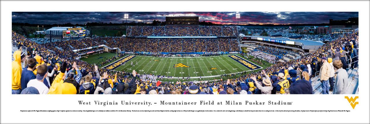 West Virginia Mountaineers at Milan Pusker Stadium Panorama Poster