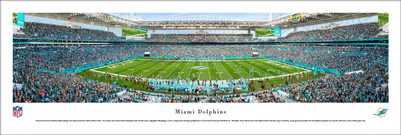 Miami Dolphins at Hard Rock Stadium Panorama Poster