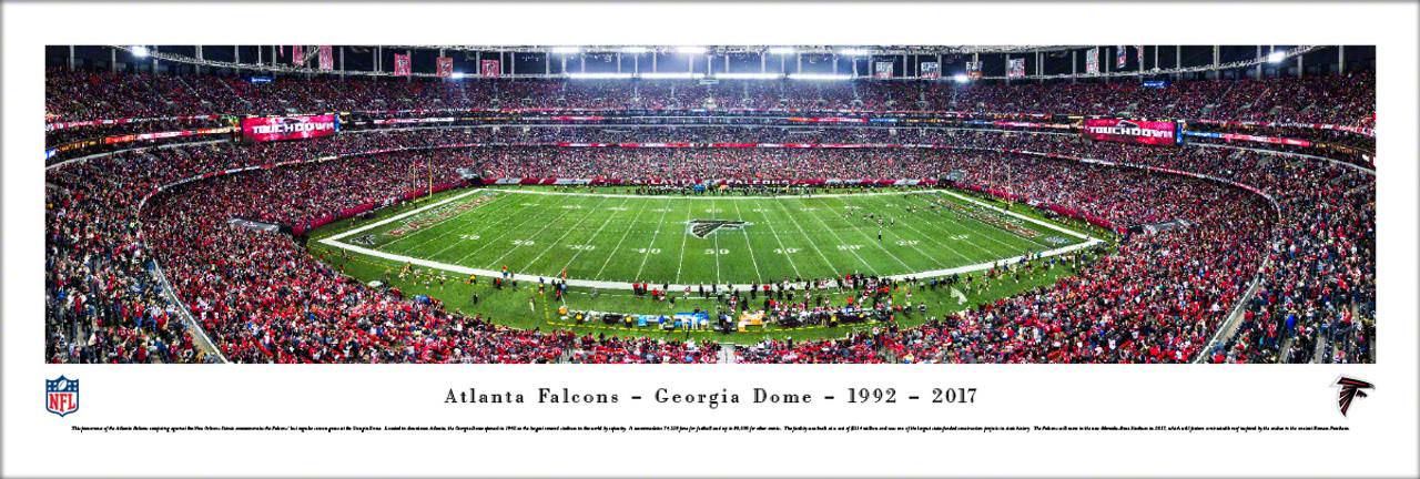 "Atlanta Falcons ""Final Game"" at the Georgia Dome Panoramic Poster"
