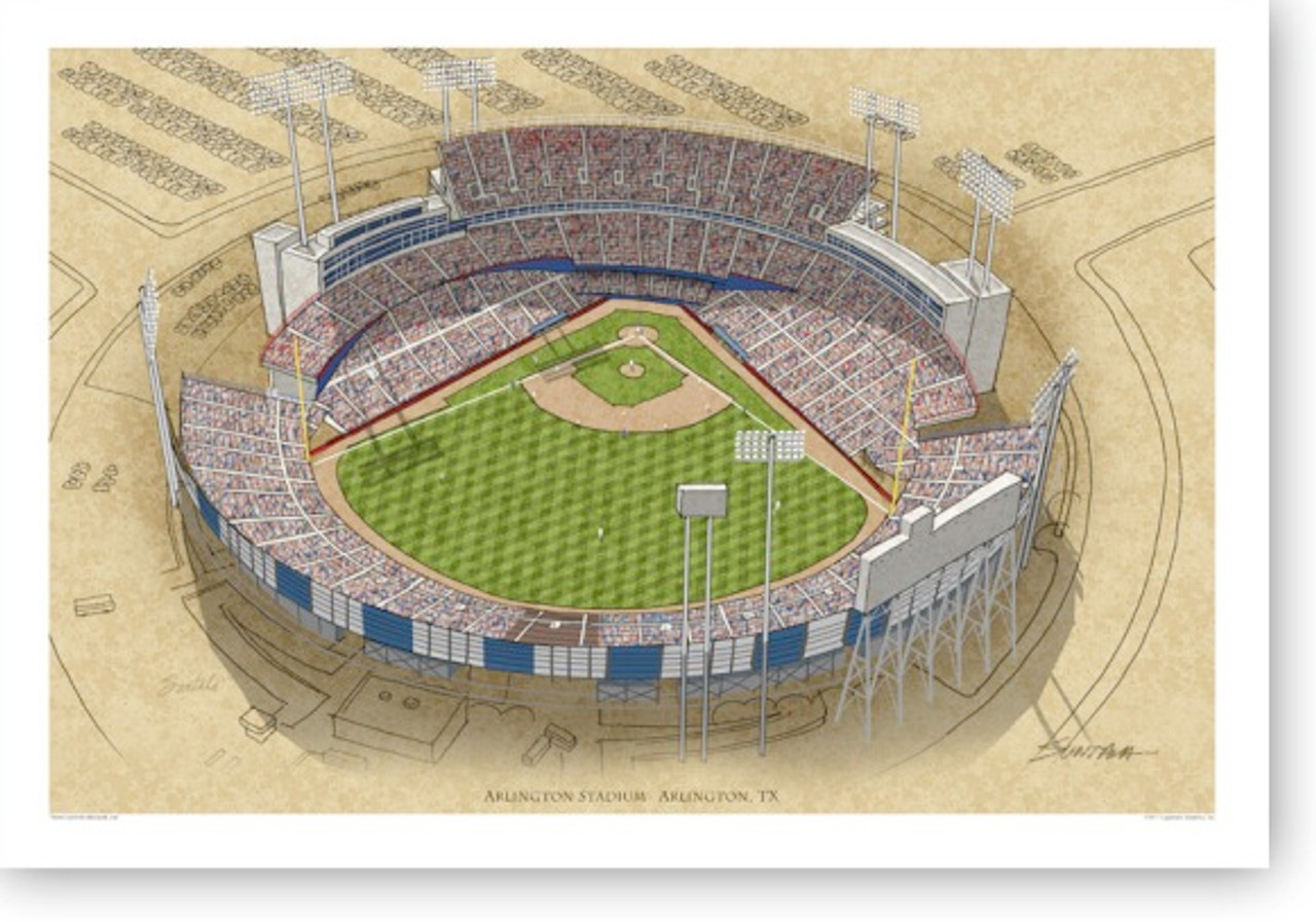 Arlington Stadium - Texas Rangers Print