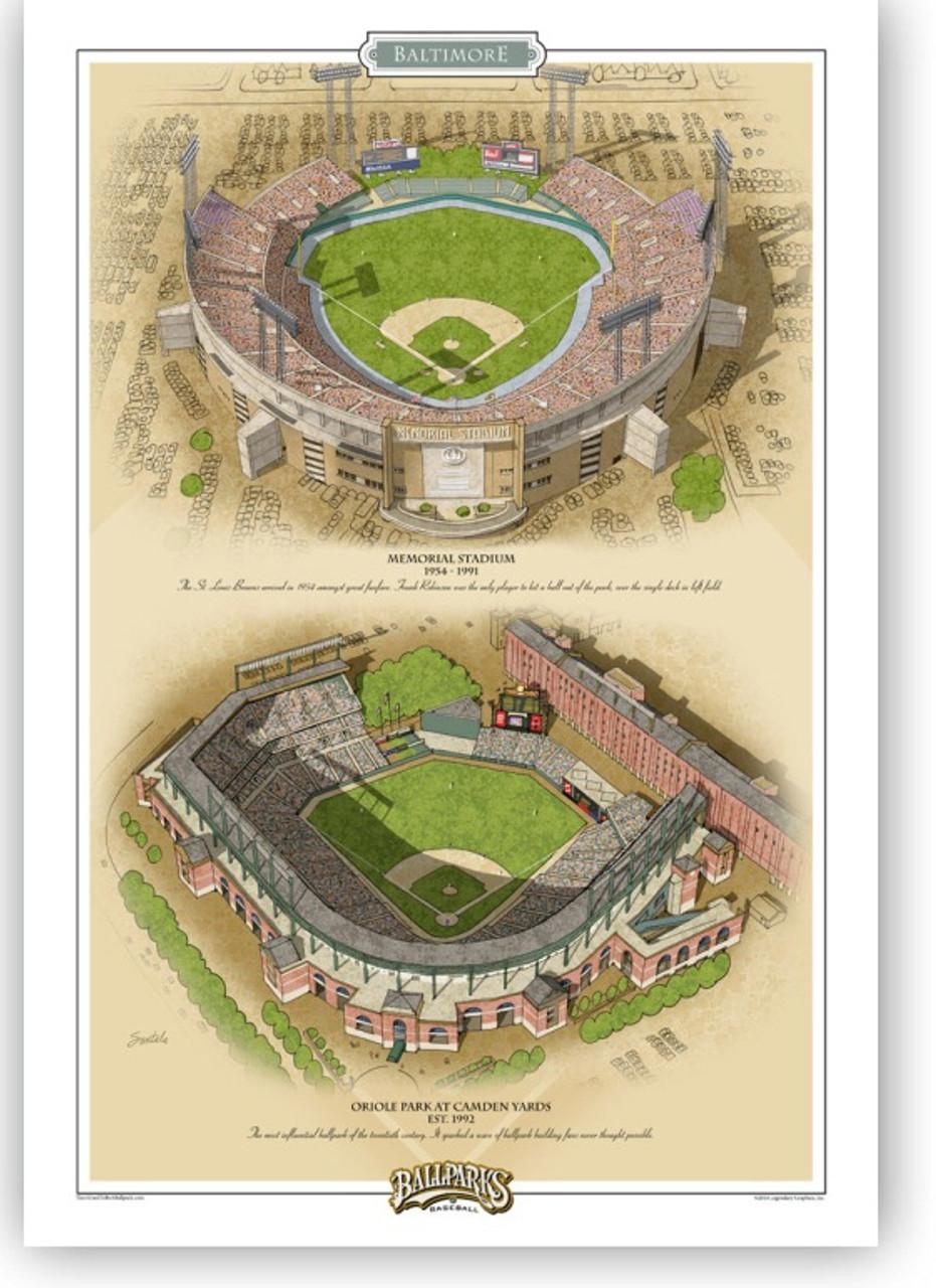 Baltimore Orioles Ballparks Print