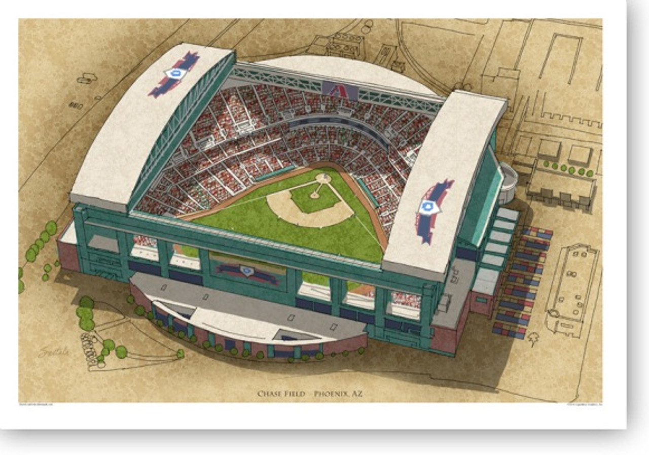 Chase Field - Arizona Diamondbacks Print