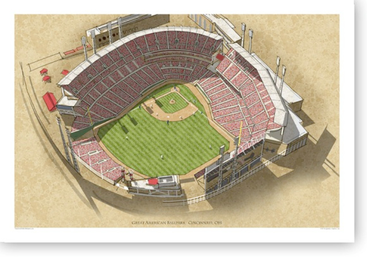 Great American Ballpark - Cincinnati Reds Print
