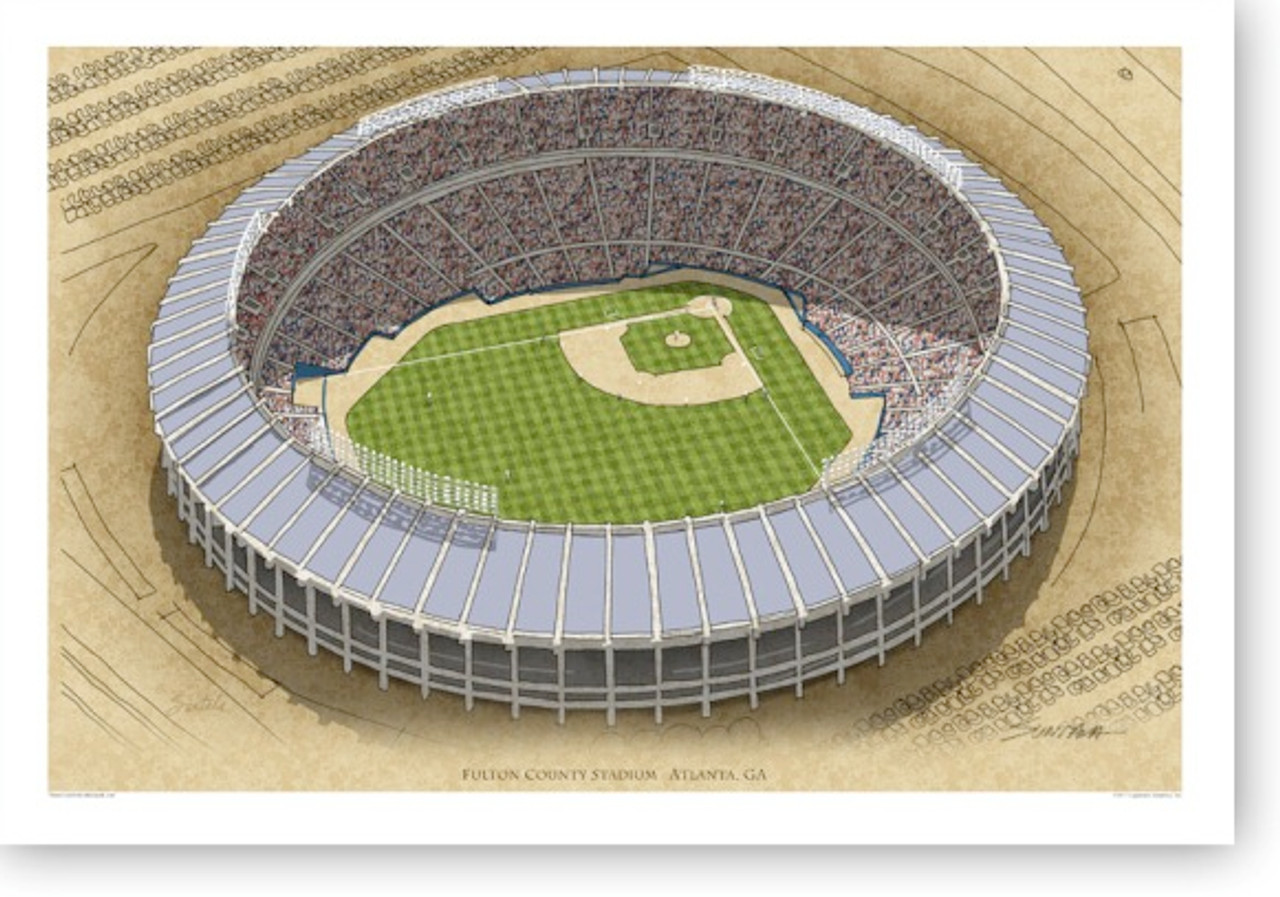 Atlanta Fulton County Stadium - Atlanta Braves  Print
