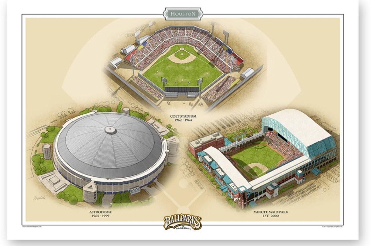 Houston Astros Ballparks Print