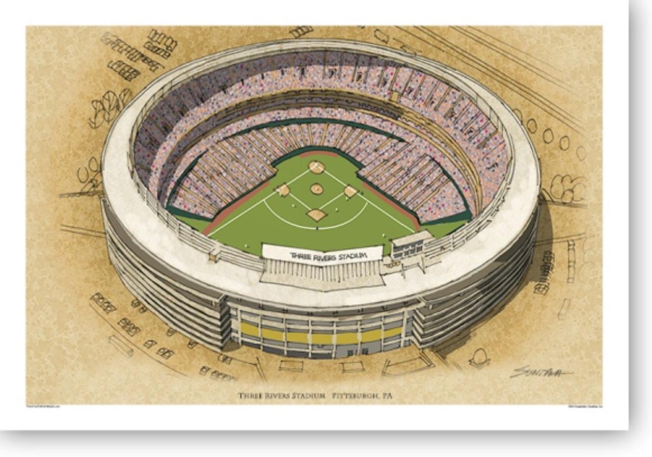 Three Rivers Stadium - Pittsburgh Pirates  Print