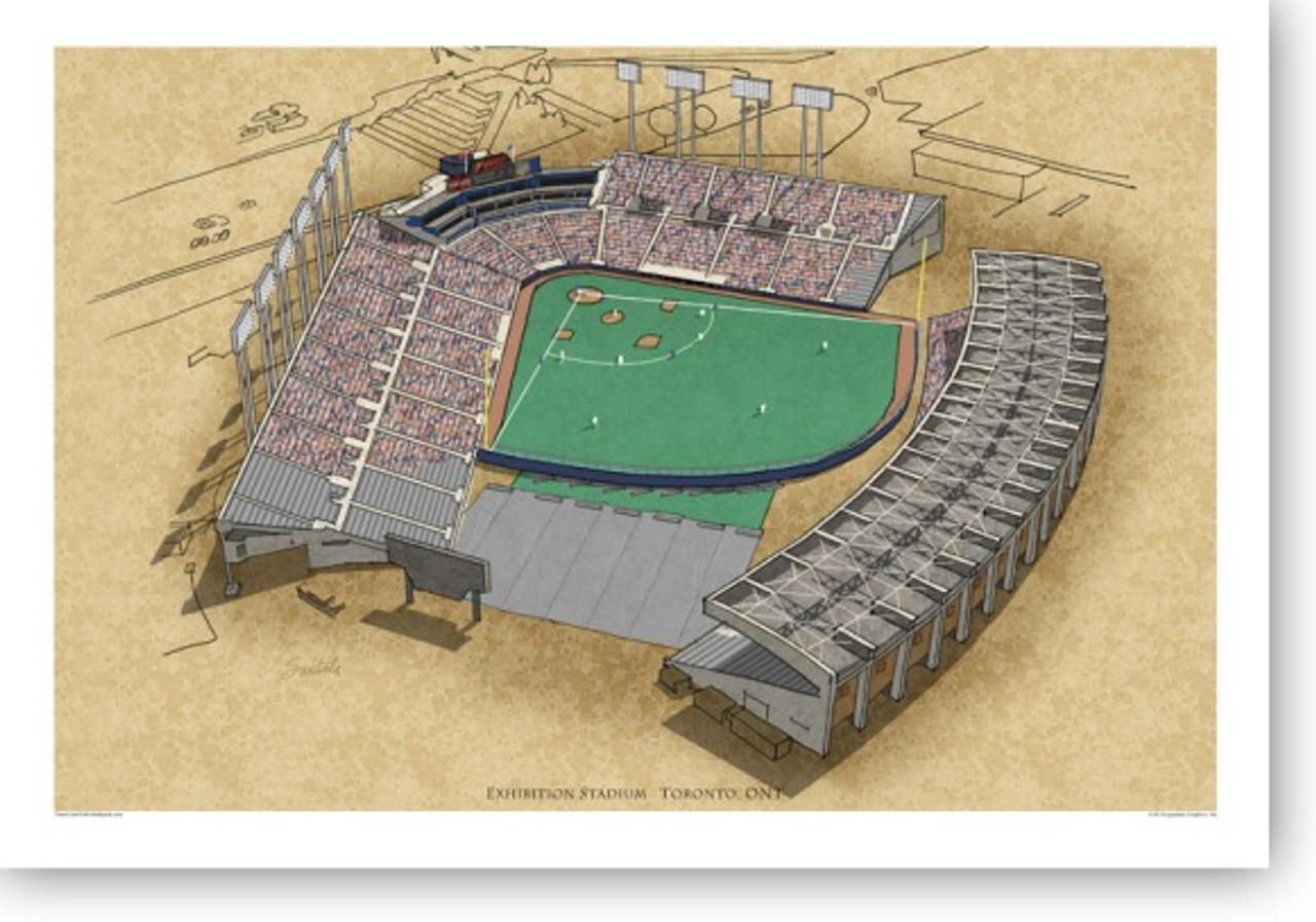 Exhibition Stadium - Toronto Blue Jays Print