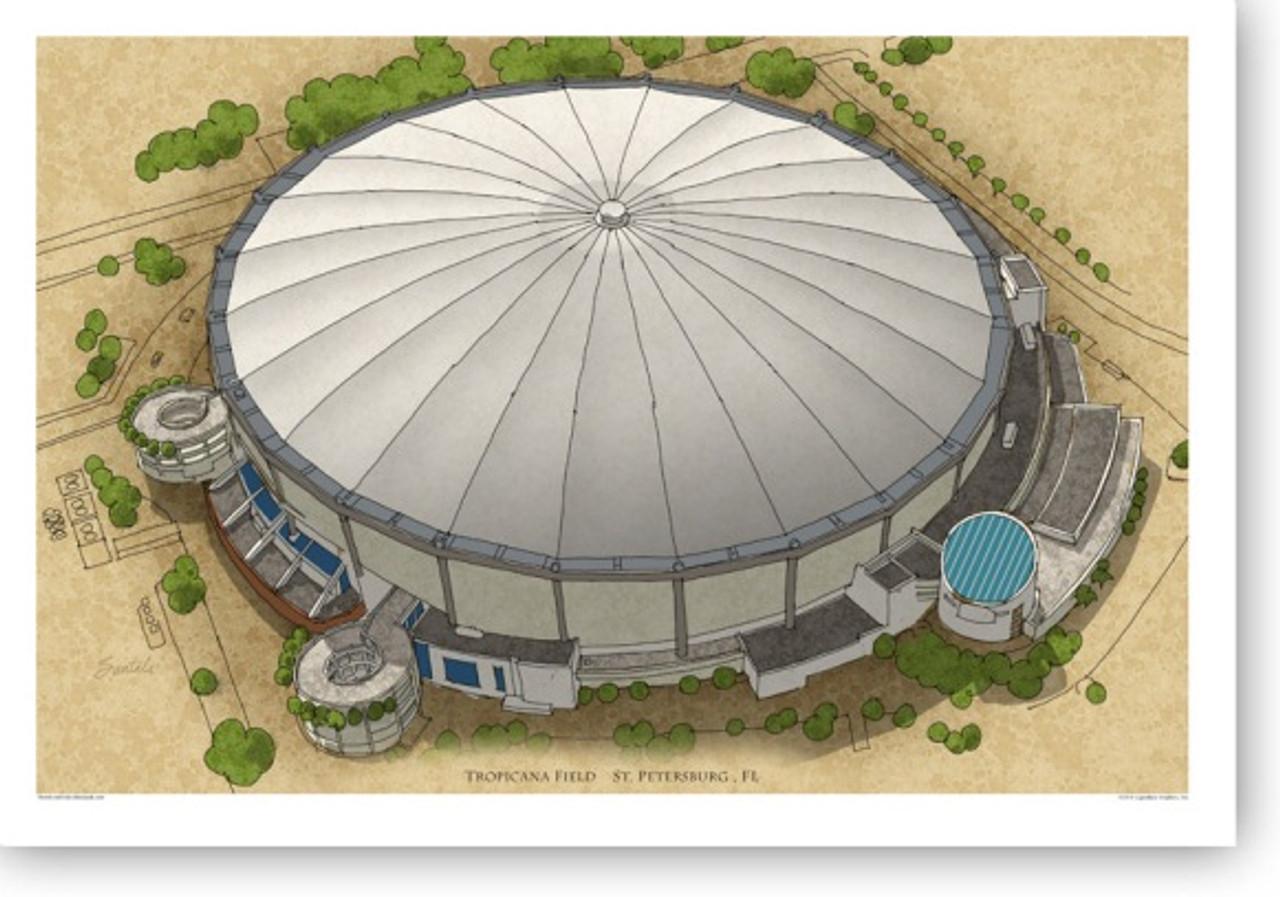Tropicana Field - Tampa Bay Rays Print
