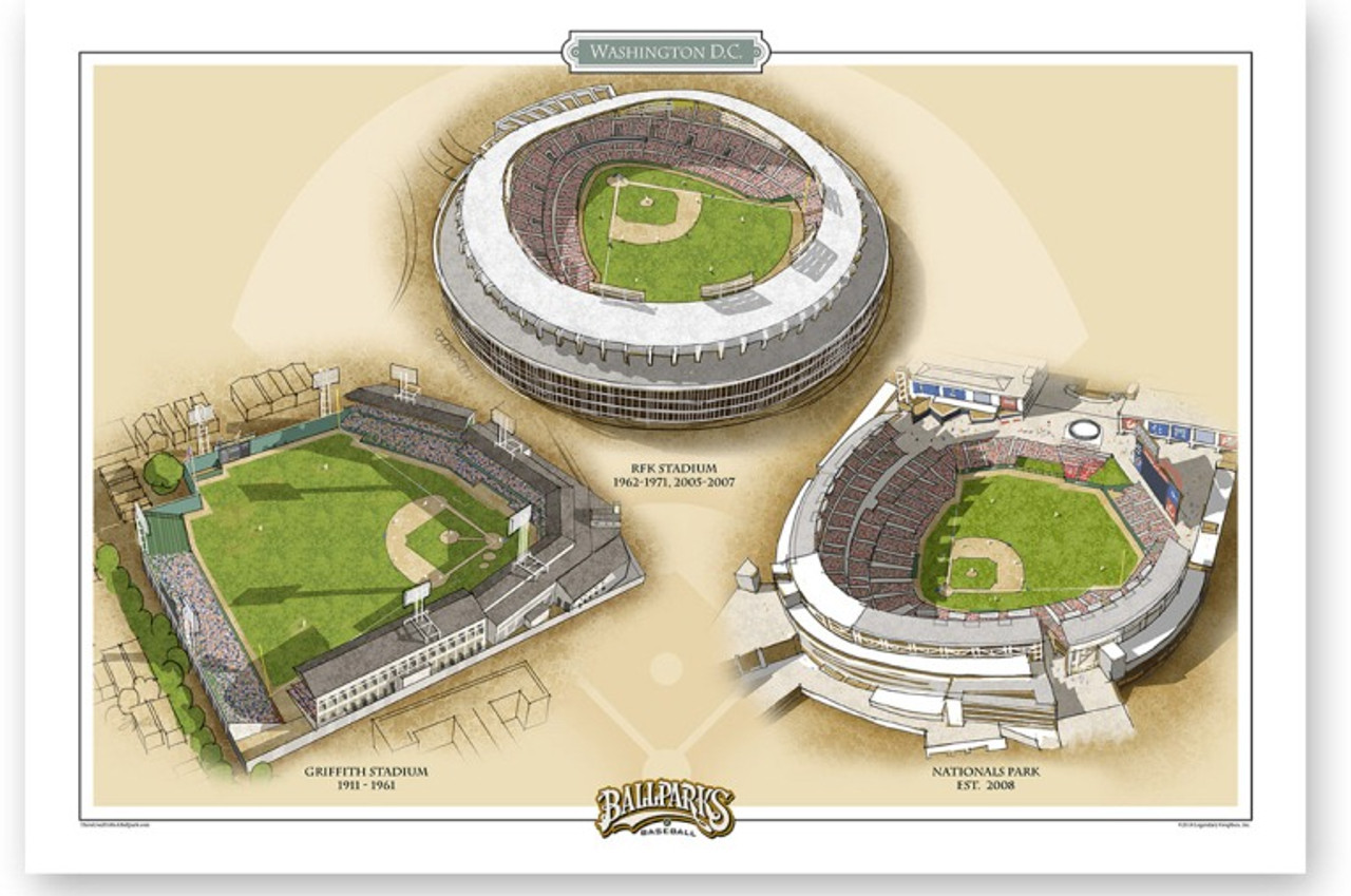 Washington DC Ballparks Print