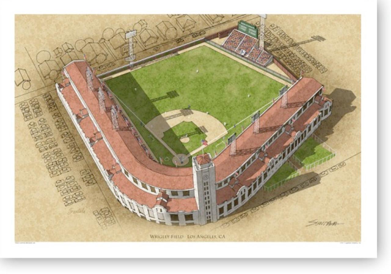 LA Wrigley Field - Los Angeles Angels Print