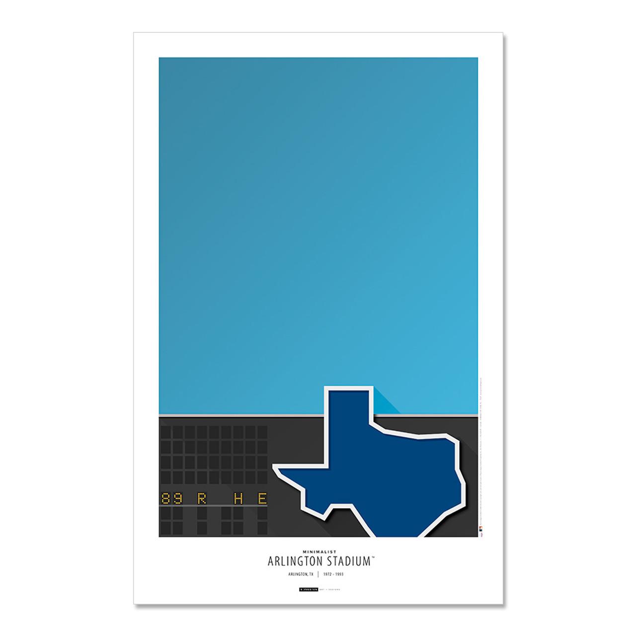 Texas Rangers - Arlington Stadium Art Poster