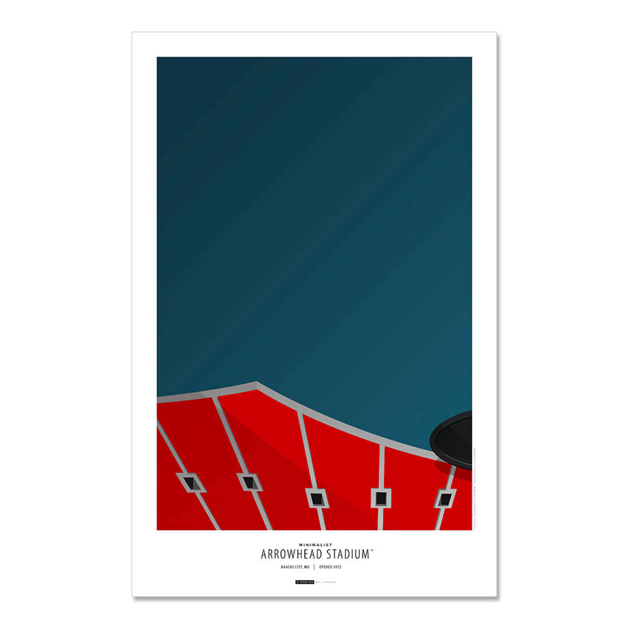 Kansas City Chiefs - Arrowhead Stadium Art Poster