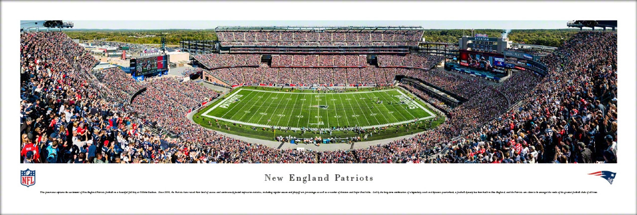 New England Patriots at Gillette Stadium Panoramic Poster