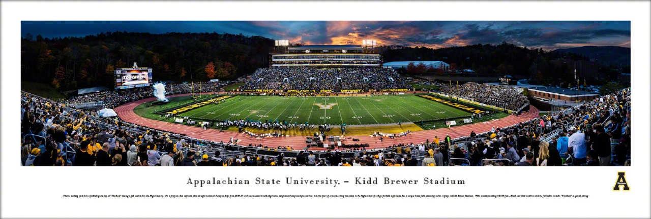 Appalachain State Mountaineers at Kidd Brewer Stadium Panoramic Poster