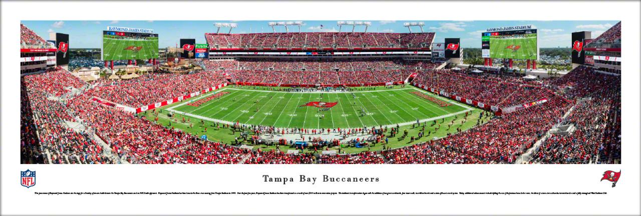 Tampa Bay Buccaneers at Raymond James Stadium Panoramic Poster