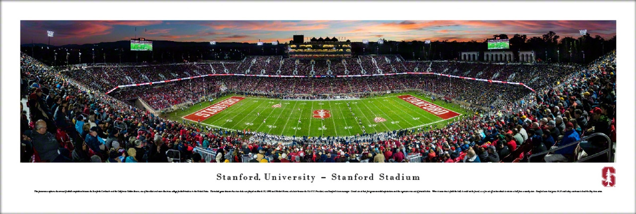 Stanford Cardinal at Stanford Stadium Panoramic Poster