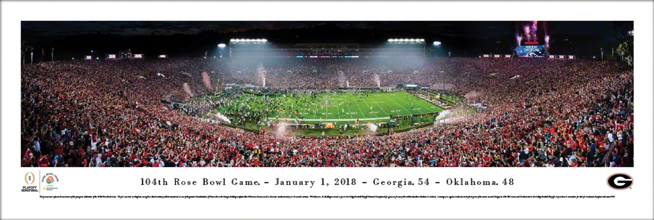 2018 Rose Bowl Georgia vs Oklahoma Panoramic Poster