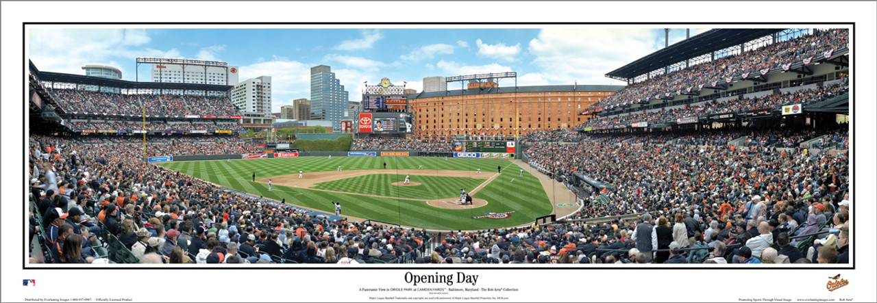 """Baltimore Orioles """"2010 Opening Day """" Camden Yards Panoramic Framed Poster"""