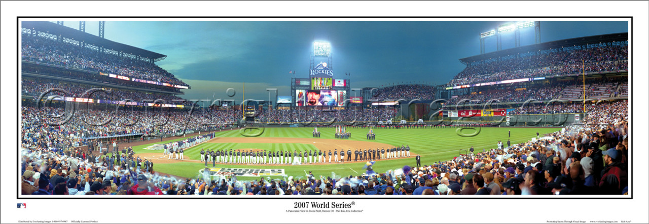 """Colorado Rockies """"2007 World Series """" Coors Field Panoramic Framed Poster"""