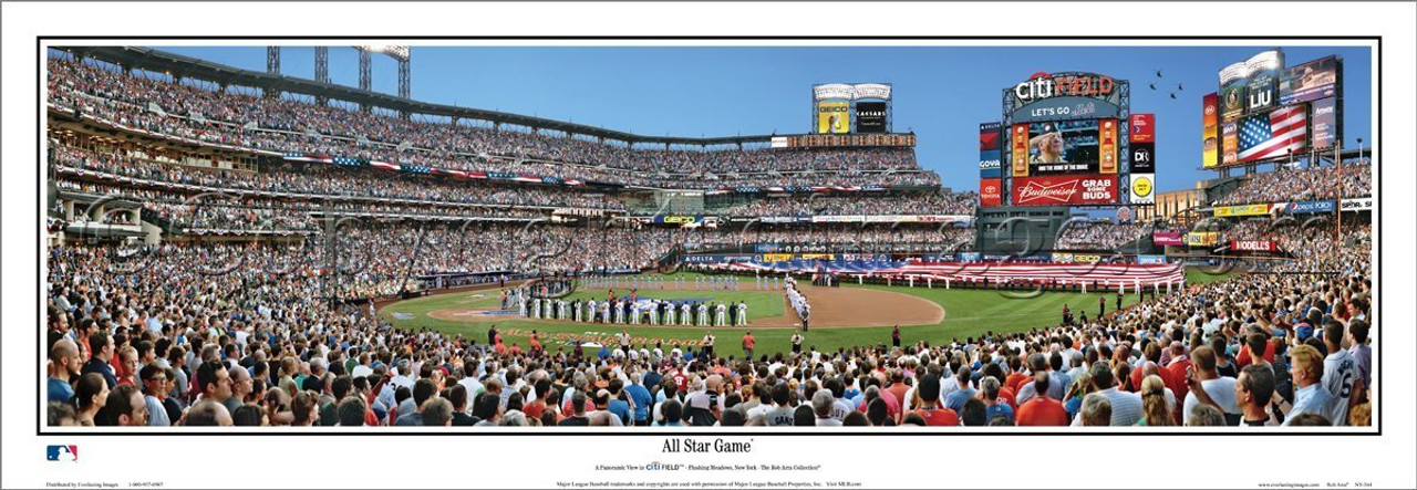 """Citi Field """"All-Star Game"""" Panoramic Framed Poster"""