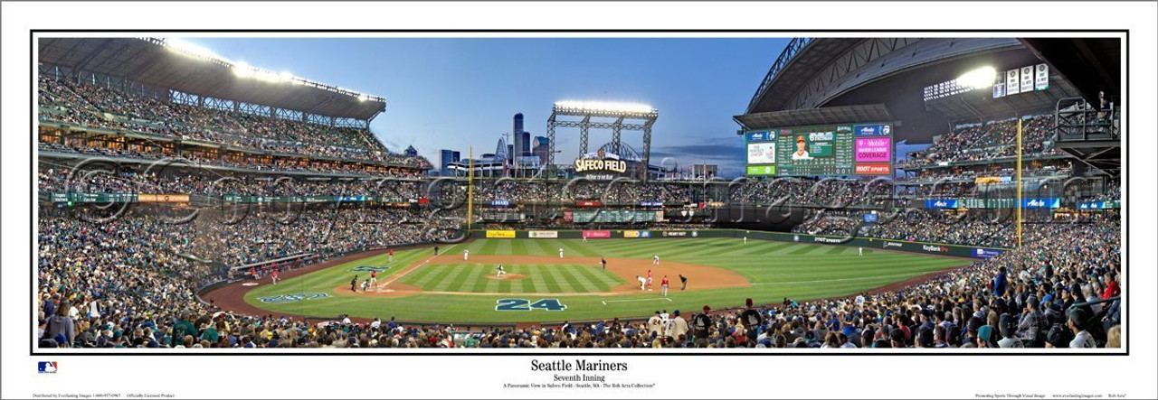 """Safeco Field """"Seattle Mariners"""" Panoramic Framed Poster"""