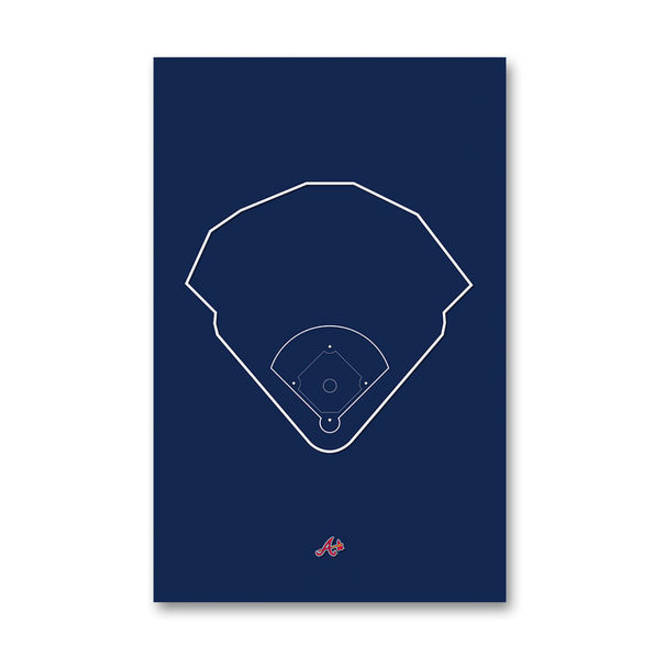 SunTrust Park Outline - Atlanta Braves Art Poster