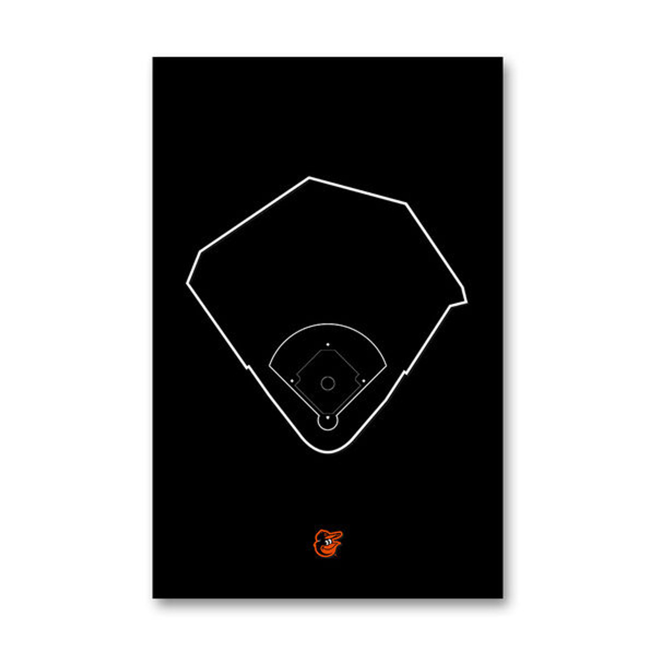 Camden Yards Outline - Baltimore Orioles Art Poster