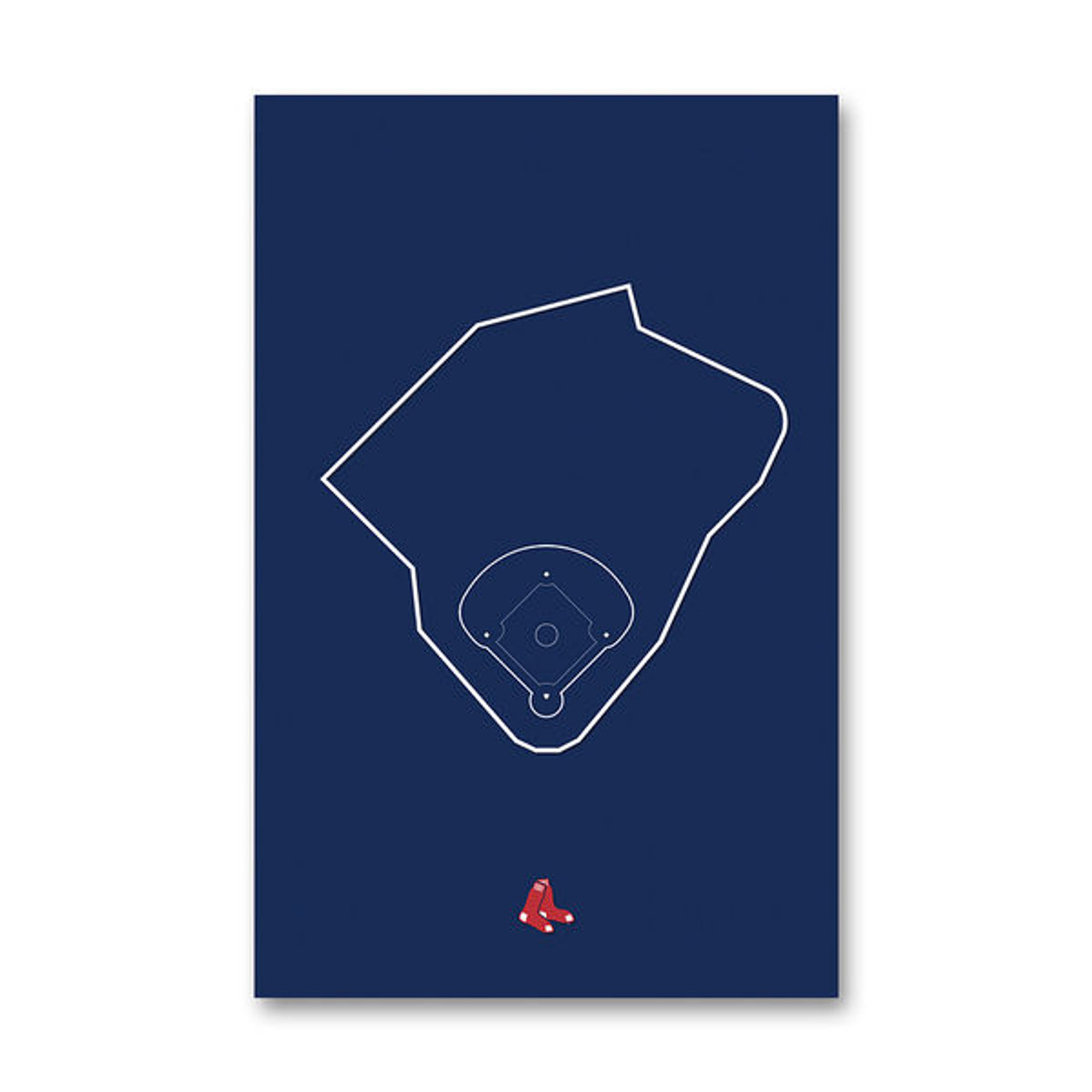 Fenway Park Outline - Boston Red Sox Art Poster