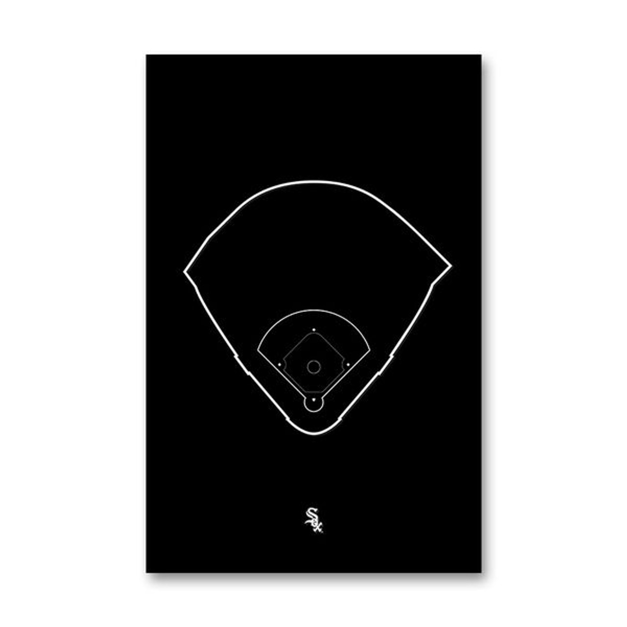 Guaranteed Rate Field Outline - Chicago White Sox Art Poster