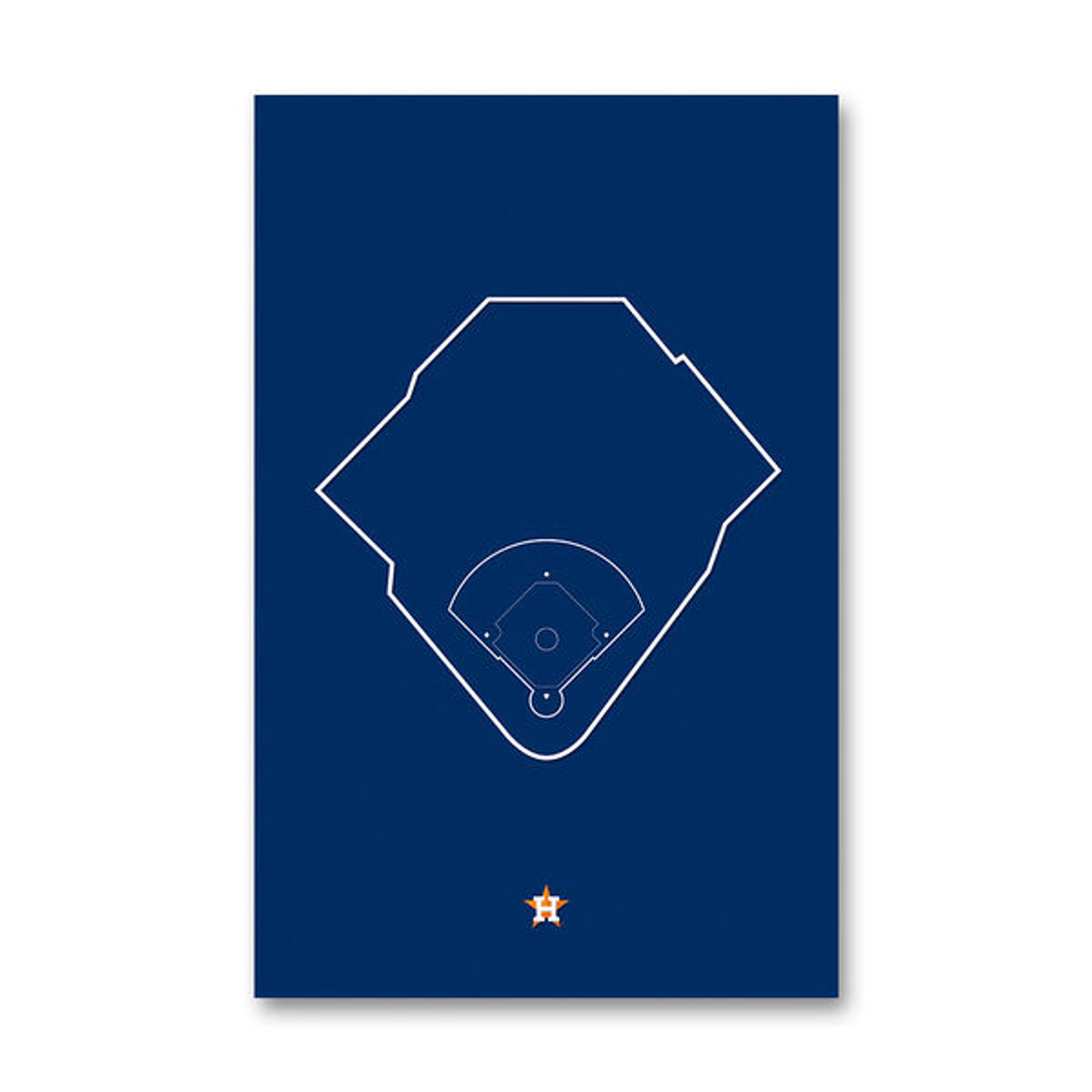 Minute Maid Park Outline - Houston Astros Art Poster