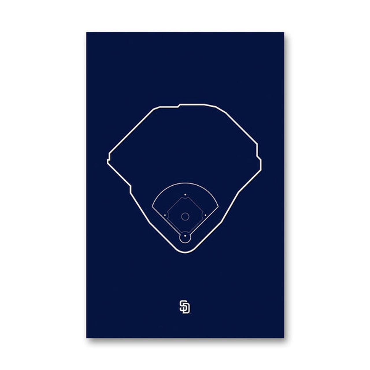 Petco Park Outline - San Diego Padres Art Poster