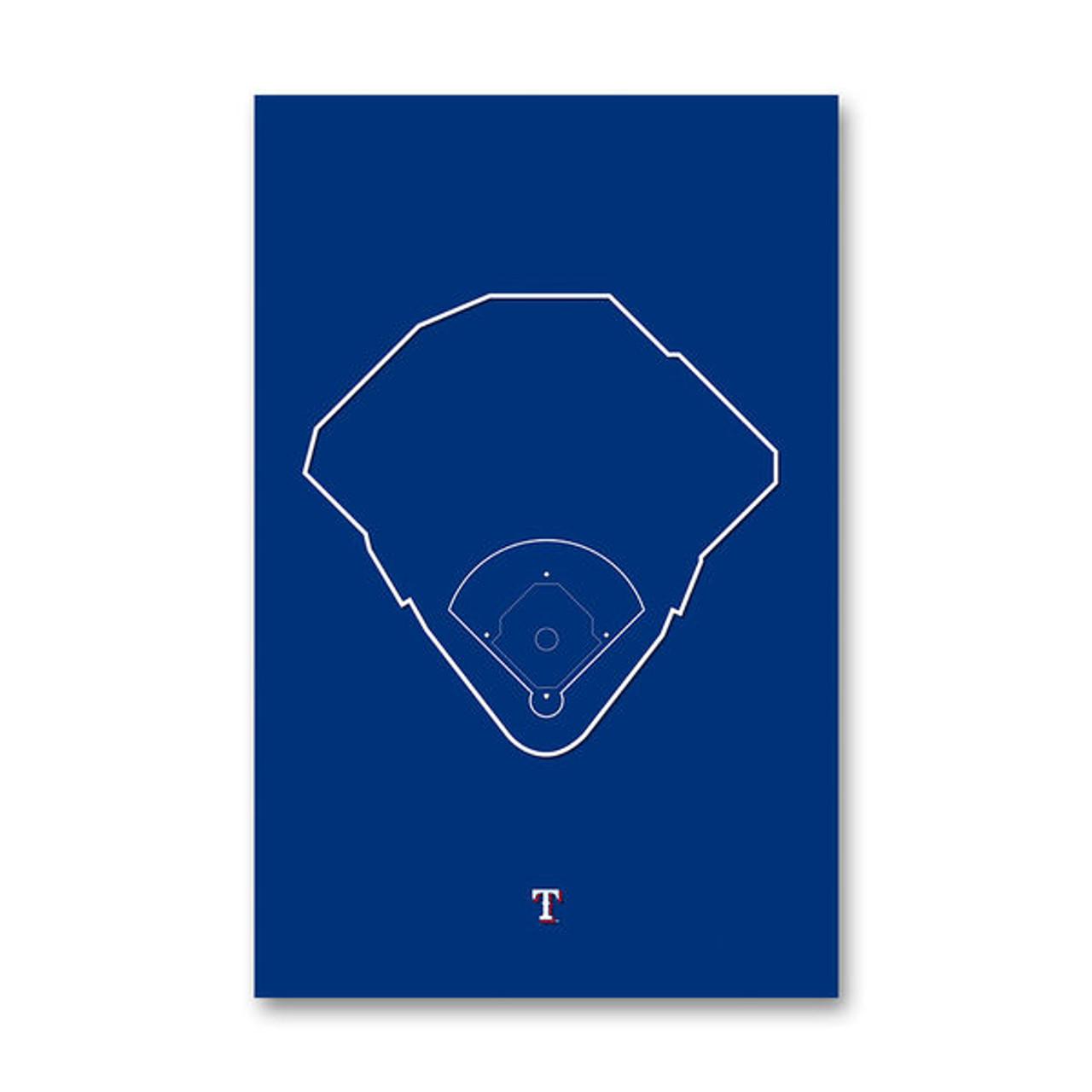 Globe Life Field Outline - Texas Rangers Art Poster