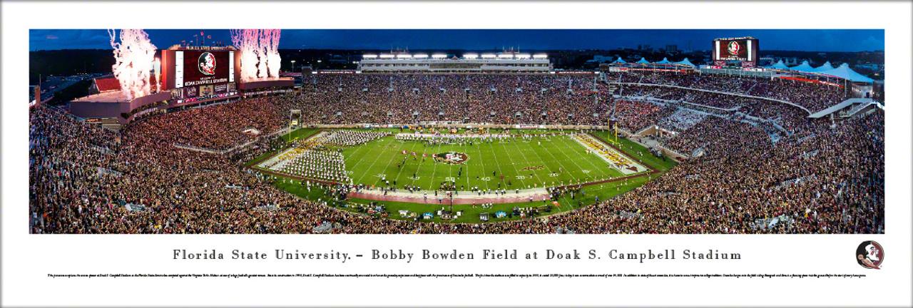 "Florida State Seminoles ""50 Yard Line"" at Doak Campbell Stadium Panoramic Poster"