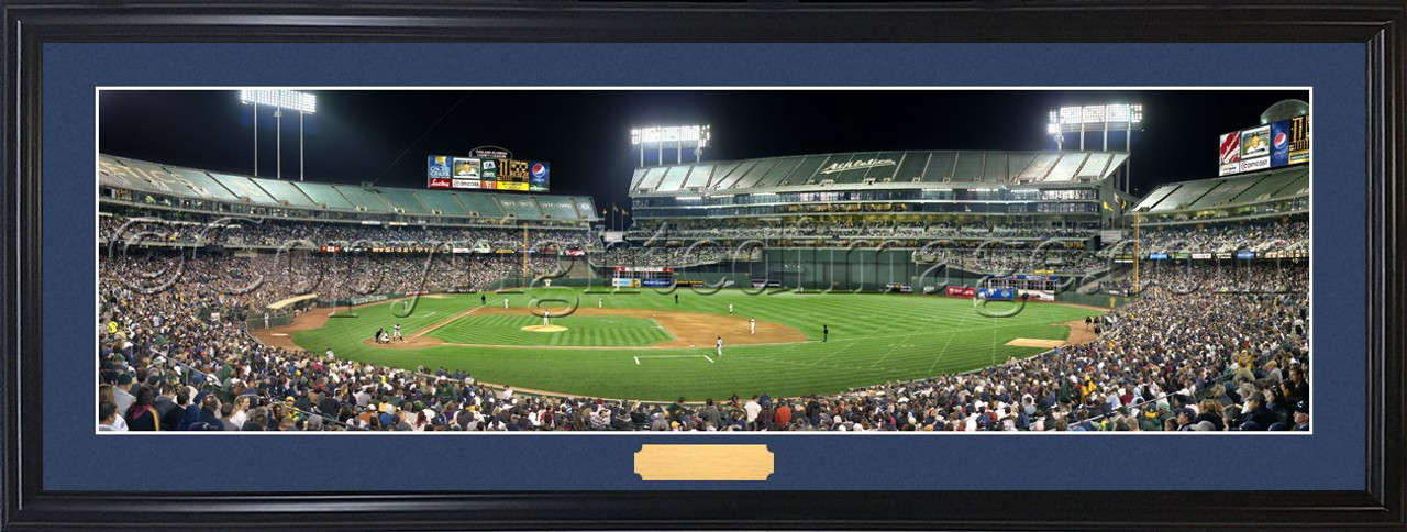 Oakland Athletics at the Oakland Coliseum Panoramic Poster